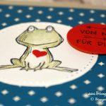 Frosch sucht Abkühlung