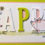 Ein Schweinchen wünscht Happy Birthday