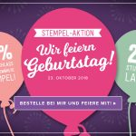 Stempelaktion – Stampin Up! feiert Geburtstag