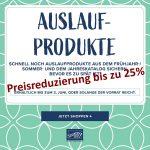Preisreduzierung in der Ausverkaufsliste ……